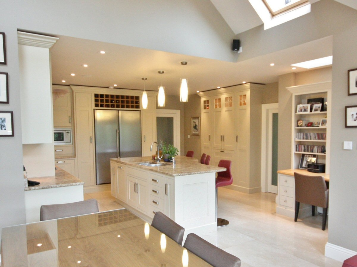 Enigma design bespoke hand painted kitchen terenure for Kitchen ideas ireland