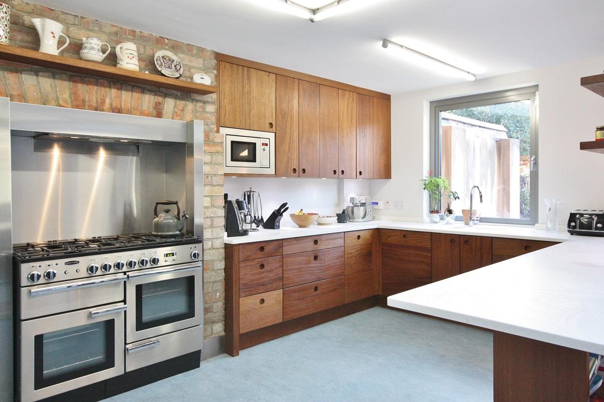 Enigma design bespoke iroko kitchen terenure enigma for Bespoke kitchen design