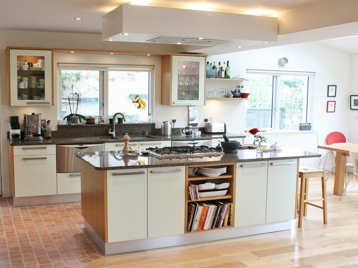 Enigma Design Green And Oak Custom Made Kitchen Dublin Wicklow 1