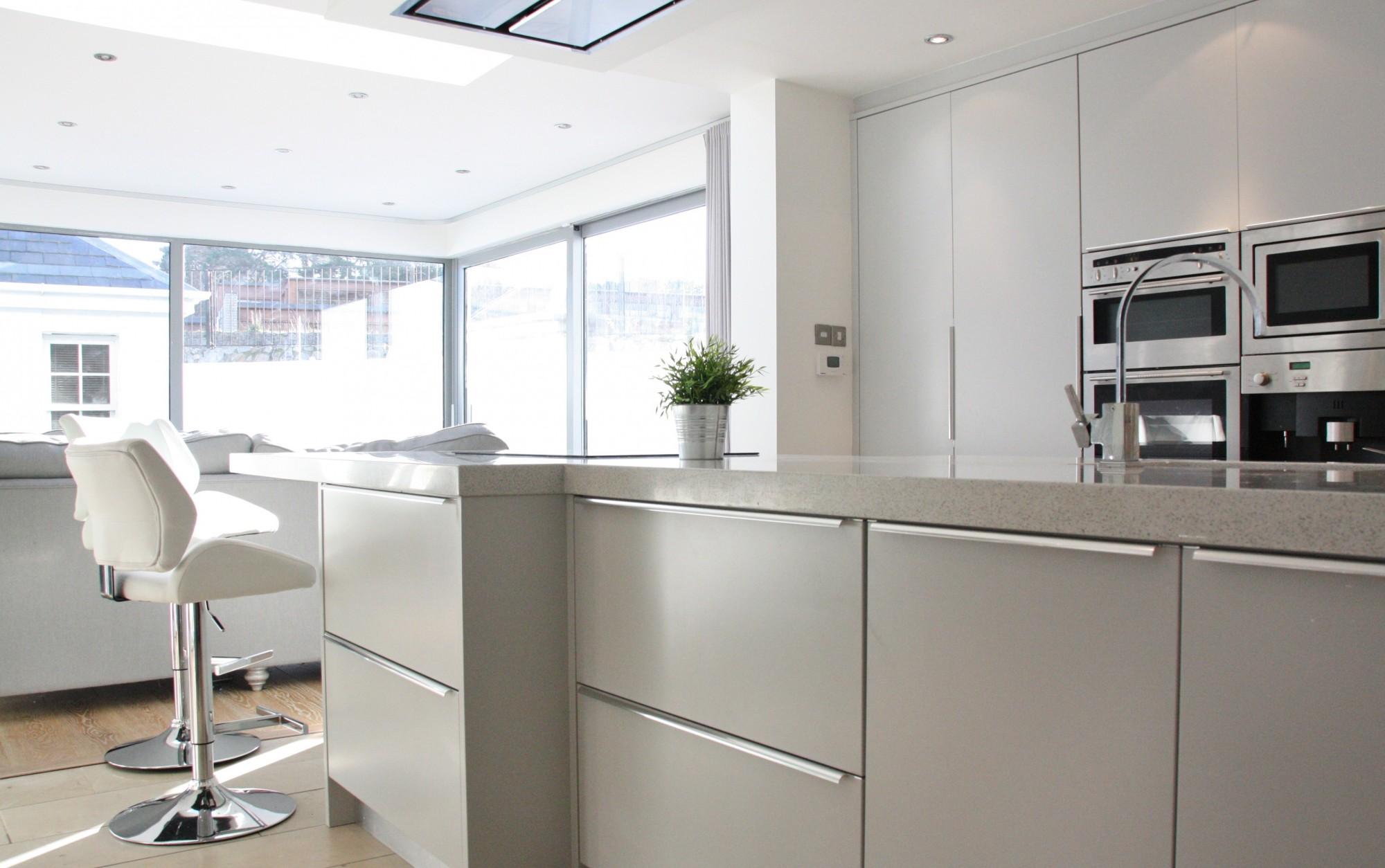 enigma design » contemporary flat panel kitchen design 5 wide