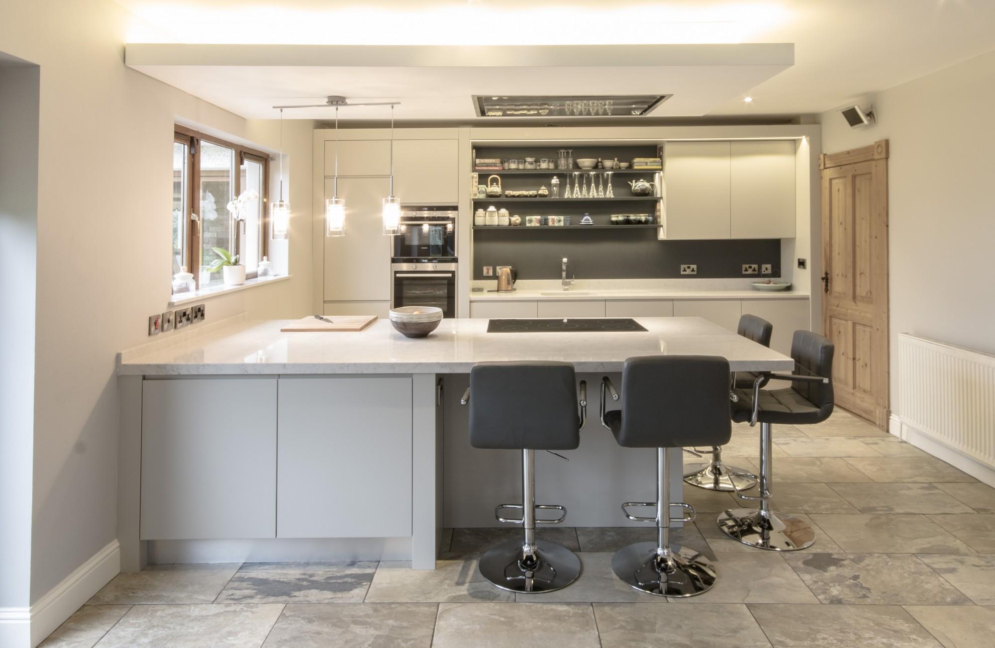 enigma design » finger groove flat panel kitchen design enigma
