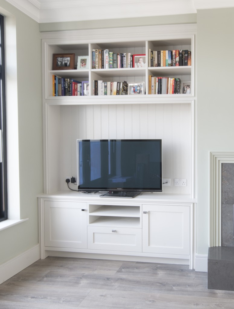 Alcove TV unit painted enigma