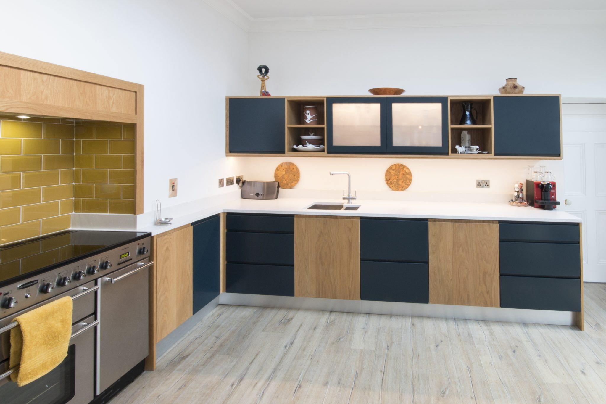 Enigma Design Bespoke Cabinetry Kitchen Oak Hague Blue 5