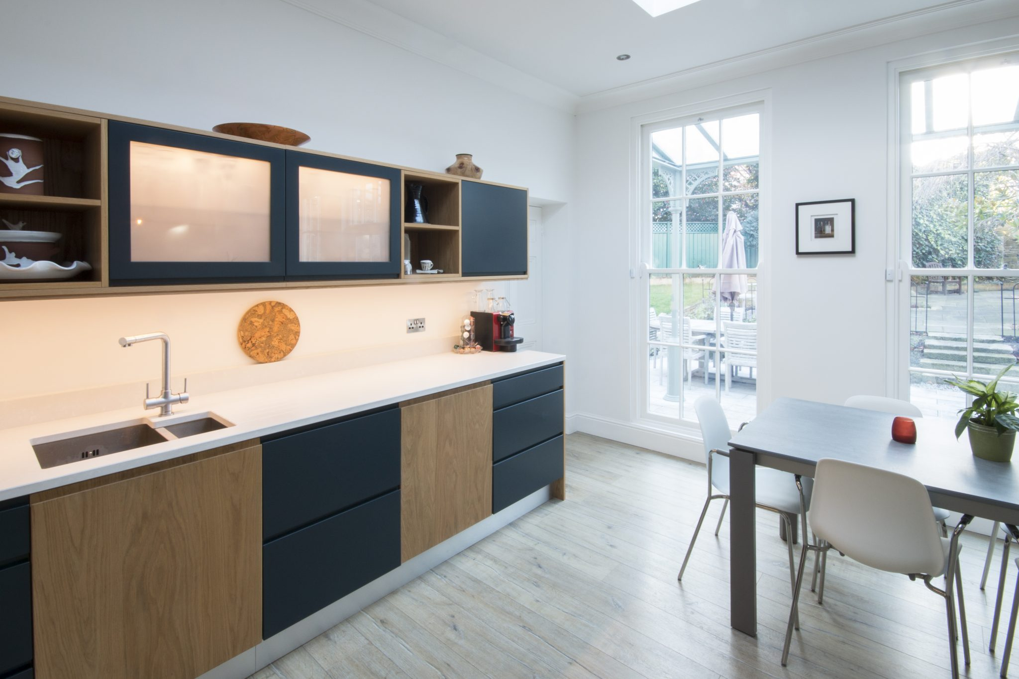 Enigma Design » enigma design bespoke cabinetry kitchen oak hague blue 8