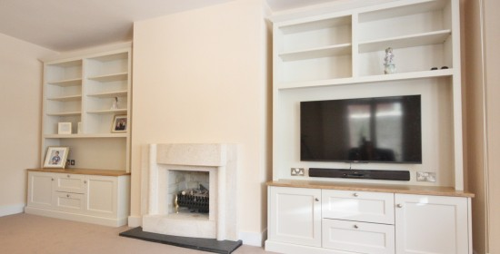 alcove tv shelving bookcase units bespoke enigma dublin wicklow 1