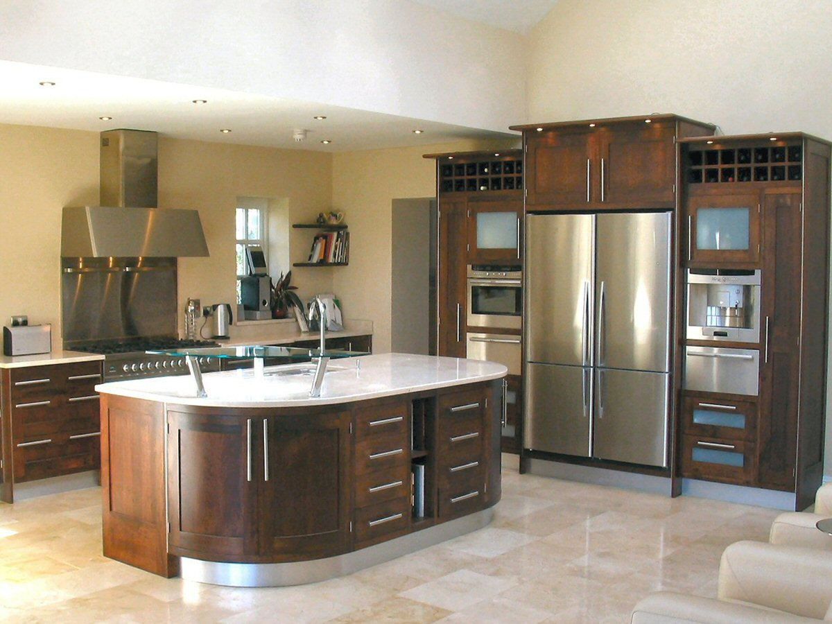 dark walnut cabinets kitchens enigma design 187 modern framed walnut kitchen 1 14490