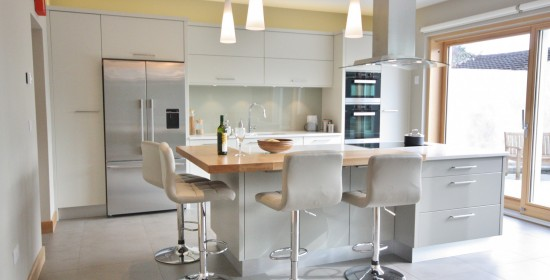 modern flat panel kitchen bespoke enigma design wicklow 1