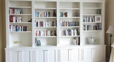 Bespoke classical TV unit bookcase enigma design Malahide 2