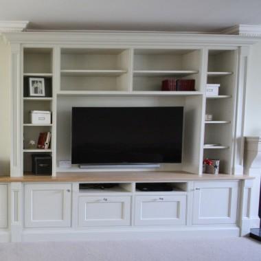 Bespoke inframe TV unit bookcase enigma design dalkey 2
