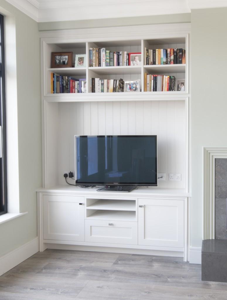 Alcove TV unit painted enigma