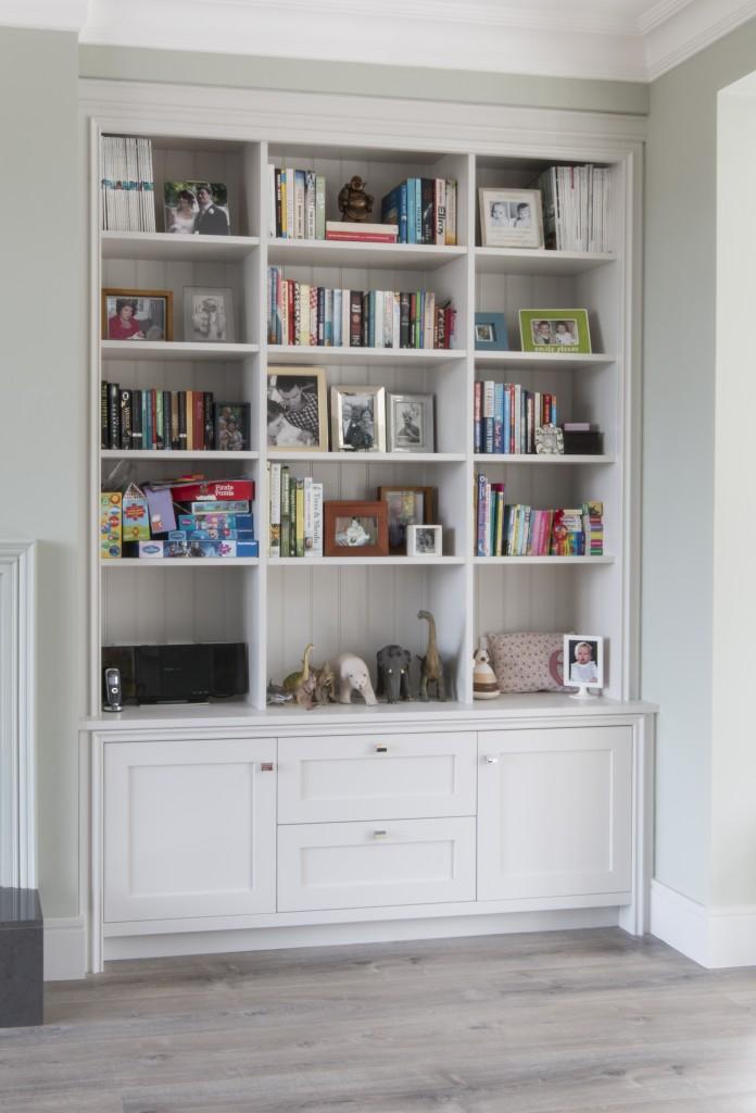 Alcove bookcase painted enigma