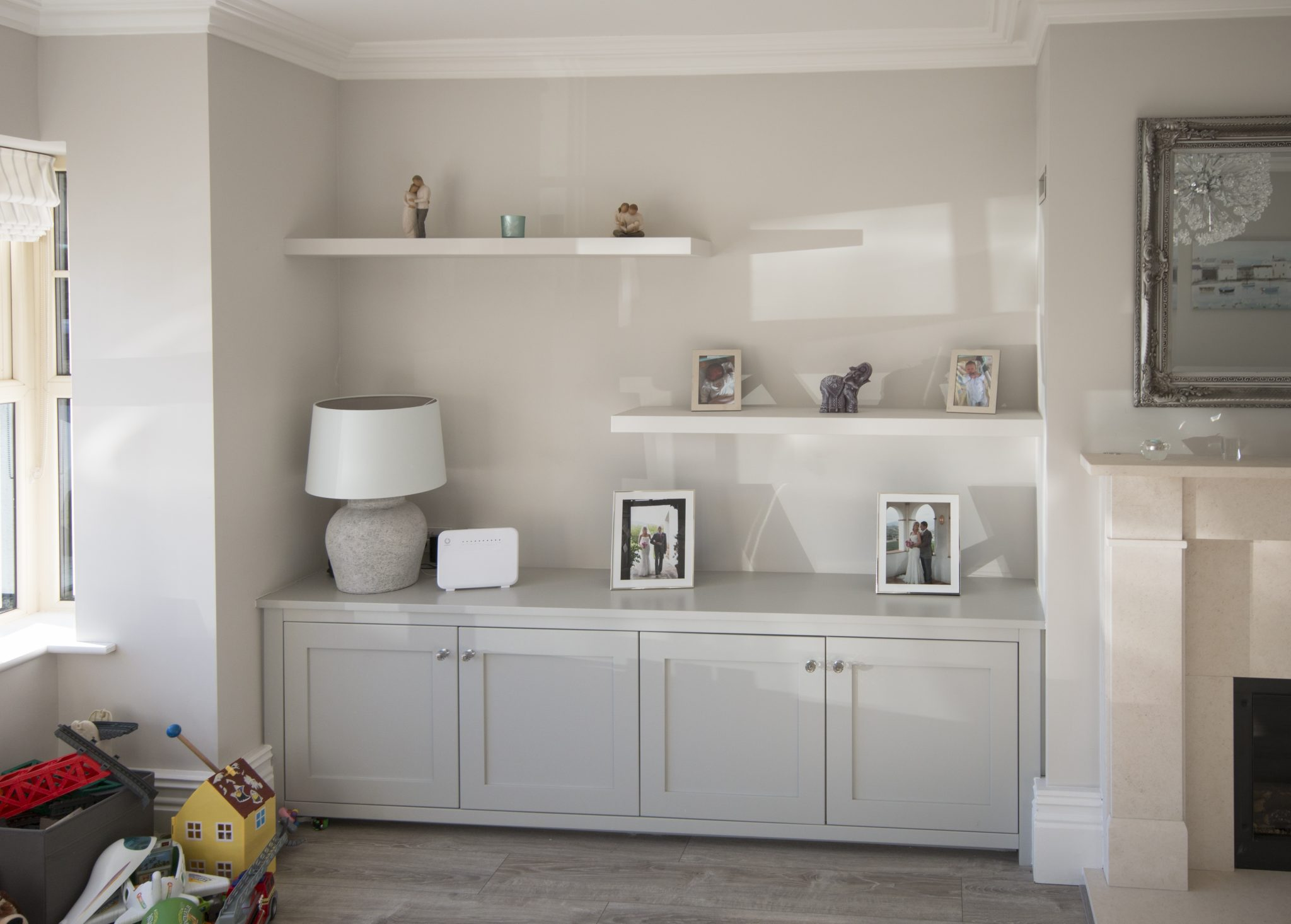 alcove units floating shelves enigma design bespoke cabinetry 4